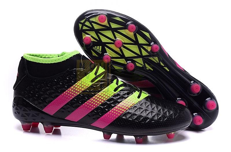 Chaussures De Foot Adidas Ace 16.1 FG AG Noir Rouge Pas Cher en ...