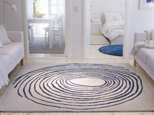 ikea living room rugs. EIVOR CIRKEL Rug  high pile white blue Ikea fans Happy morning