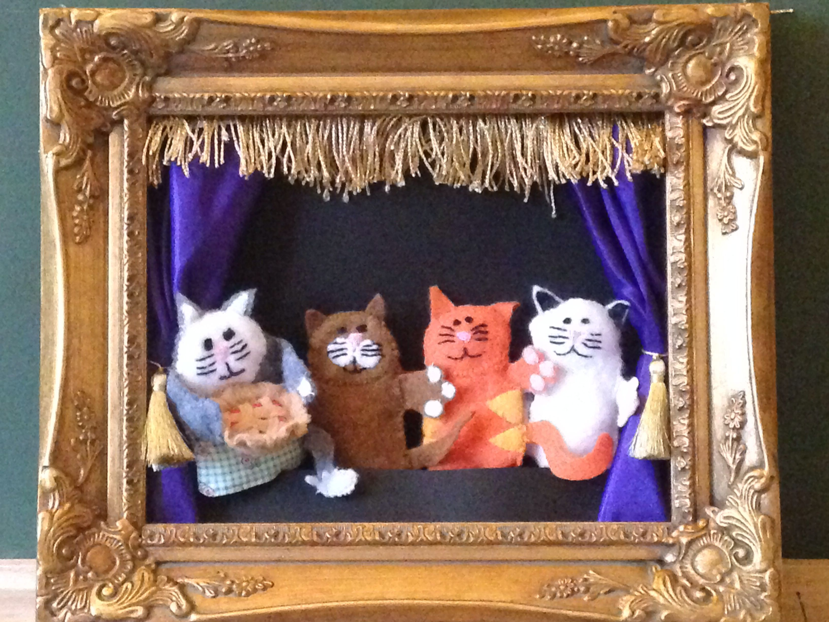 Finger Puppet Theater Thank You Pinterest The Picture Frame Was A Hit Finger Puppet Nursery Rhyme Three Lit Nursery Rhymes Wall Art Theme Activity Handmade