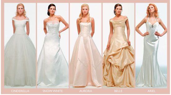 Unique disney princess wedding dresses