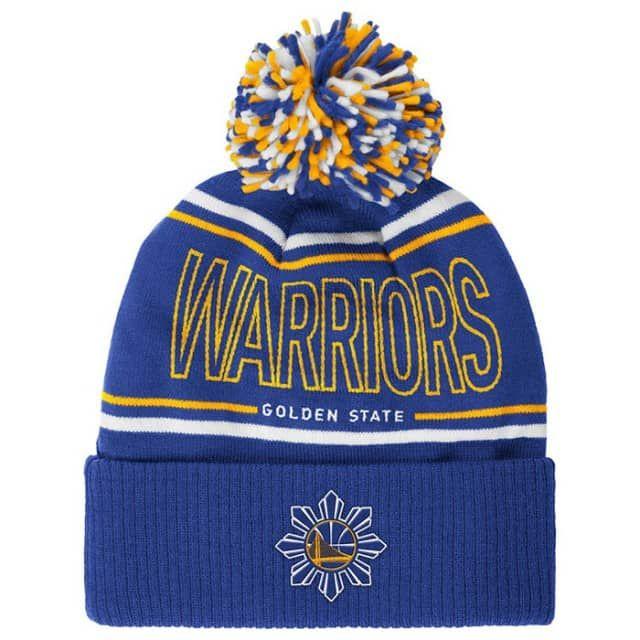 4f3d0da3e5f Golden State Warriors adidas Filipino Heritage Energy Stripe Cuffed Pom Knit  - Royal - Golden State Warriors