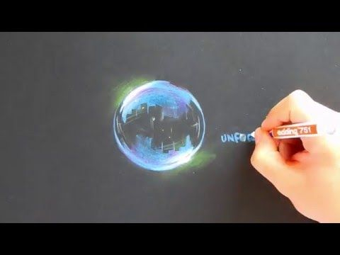 how to paint hyper realistic bubbles acrylic painting tutorial