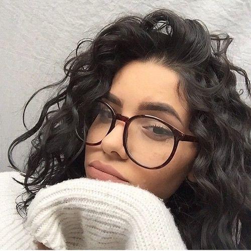 Resultado De Imagem Para Curly Hair And Glasses Fotos Tumblr Cabelo Cacheado Cabelo Meninas De Cabelos Cacheados