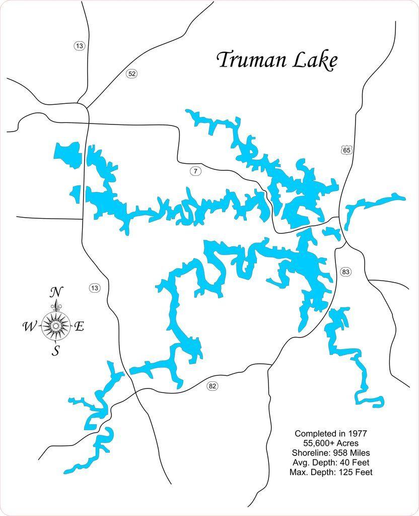 map of truman lake Pin On Miscellaneous Laser Cut Lake Maps map of truman lake