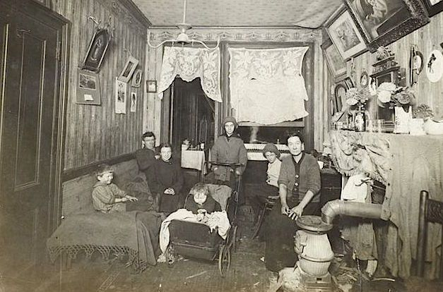 Tenement Family Of Seven In One Room Apartment C 1900