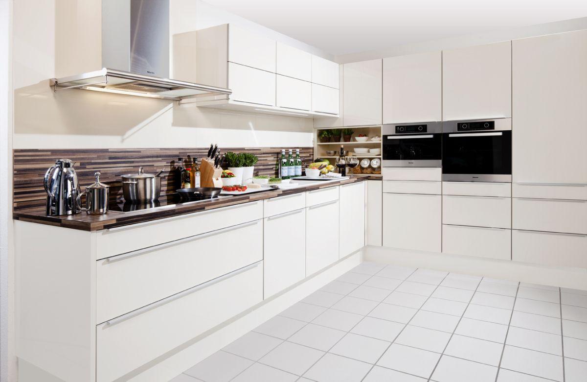 moderne wei e k che home kitchen pinterest kitchens. Black Bedroom Furniture Sets. Home Design Ideas