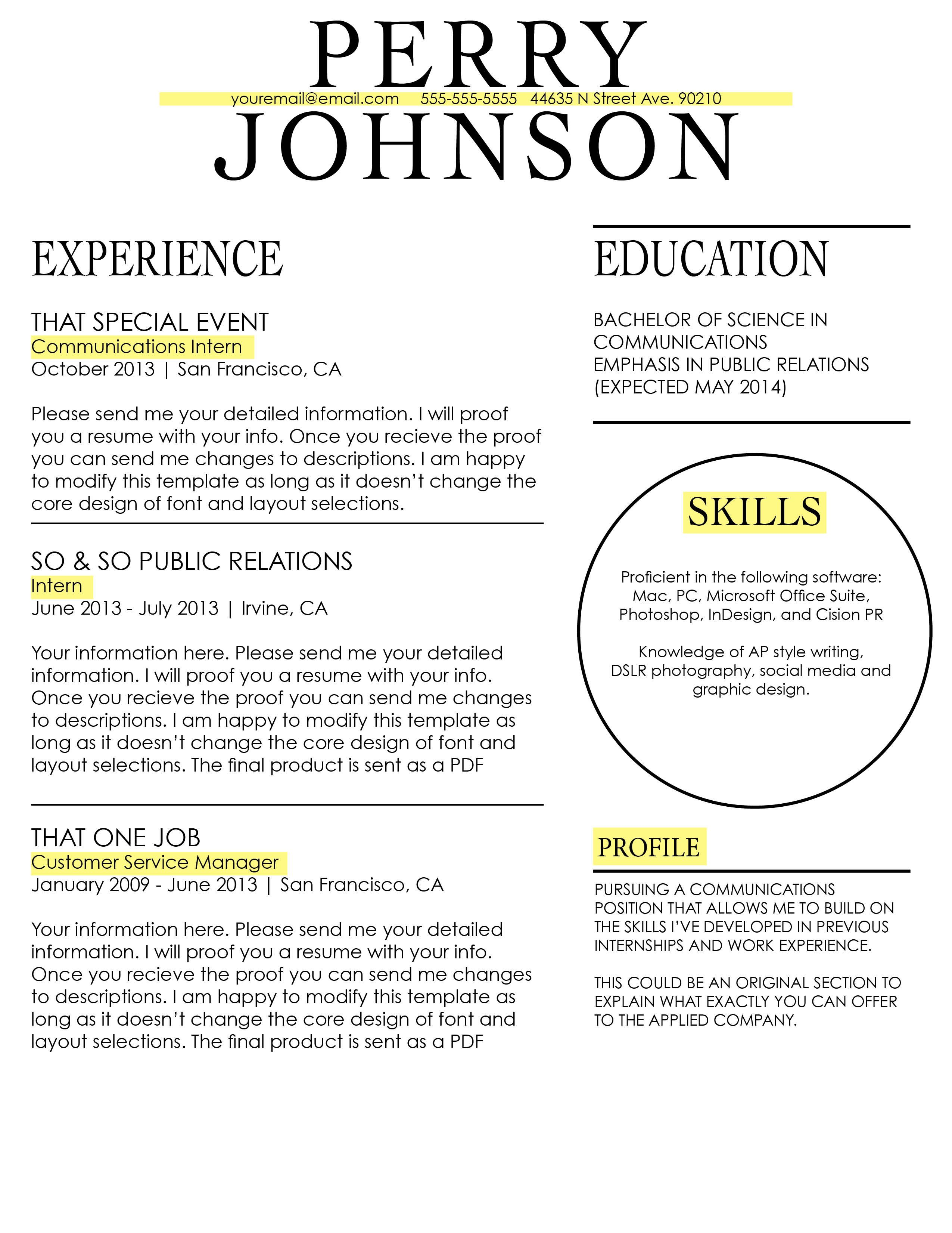 36 Beautiful Resume Ideas That Work Sample Resume Resume