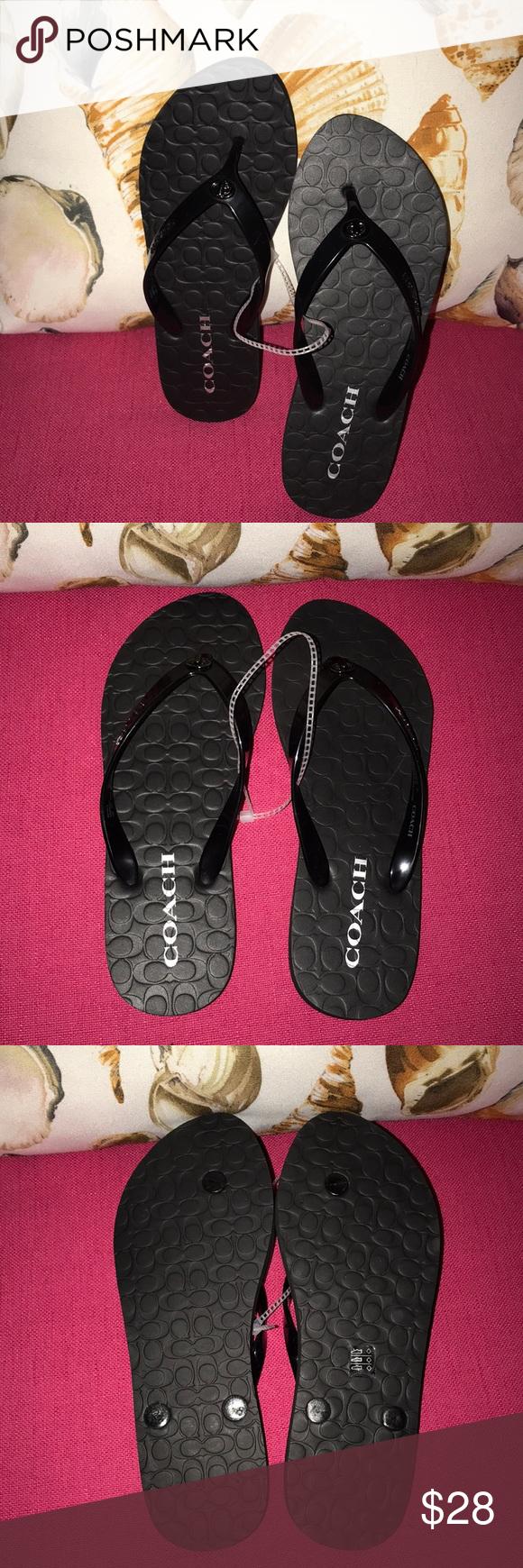01fc7f38c8da NWOT Coach flip flops ALERT NEW LISTING NWOT Coach flip flops. Rubber  bottom with plastic upper. Super cute and comfy! Women s size 6. Coach  Shoes Sandals