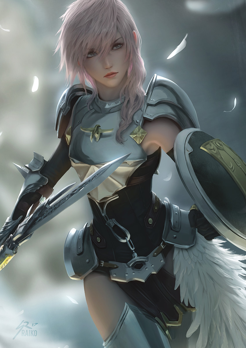 Artstation Lightning Ffxiii 2 Sean Raiko Tay Lightning Final Fantasy Final Fantasy Art Final Fantasy Girls