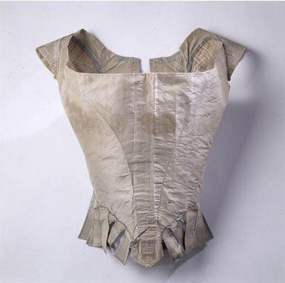 One of the very few items of Marie Antoinette's wardrobe that still survives today. A simple apple-green bodice.