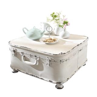 Beistelltisch Koffer Metall Weiss Pureday Landhaus Look Kommode Shabby Chic Chic Wohnzimmer Alte Koffer