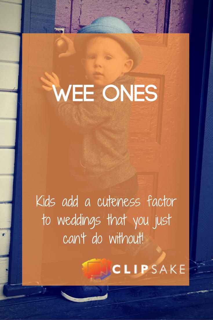 Weddings are fun. Kids are fun. So combining them just makes sense.