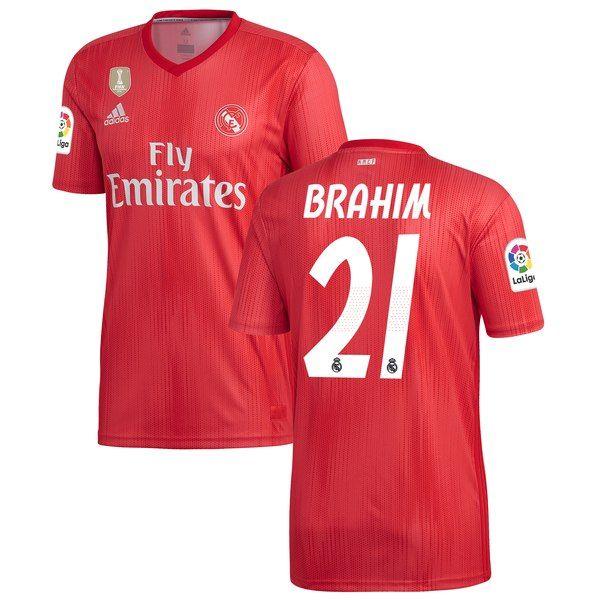 Brahim Diaz Real Madrid adidas 2018 19 Third Replica Player Jersey Red   RealMadrid dd9dc4454