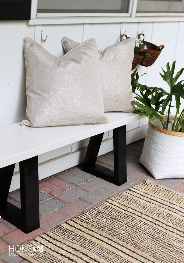 diy fabriquer un banc de jardin design en bois decor. Black Bedroom Furniture Sets. Home Design Ideas
