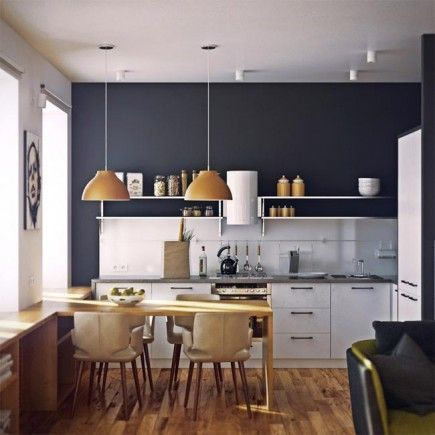 Lujoso Colores De La Pared De La Cocina Común Modelo - Ideas de ...