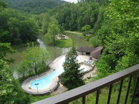 Charmant View From The Lodge At Natural Bridge State Resort Park   Red River Gorge  Kentucky.