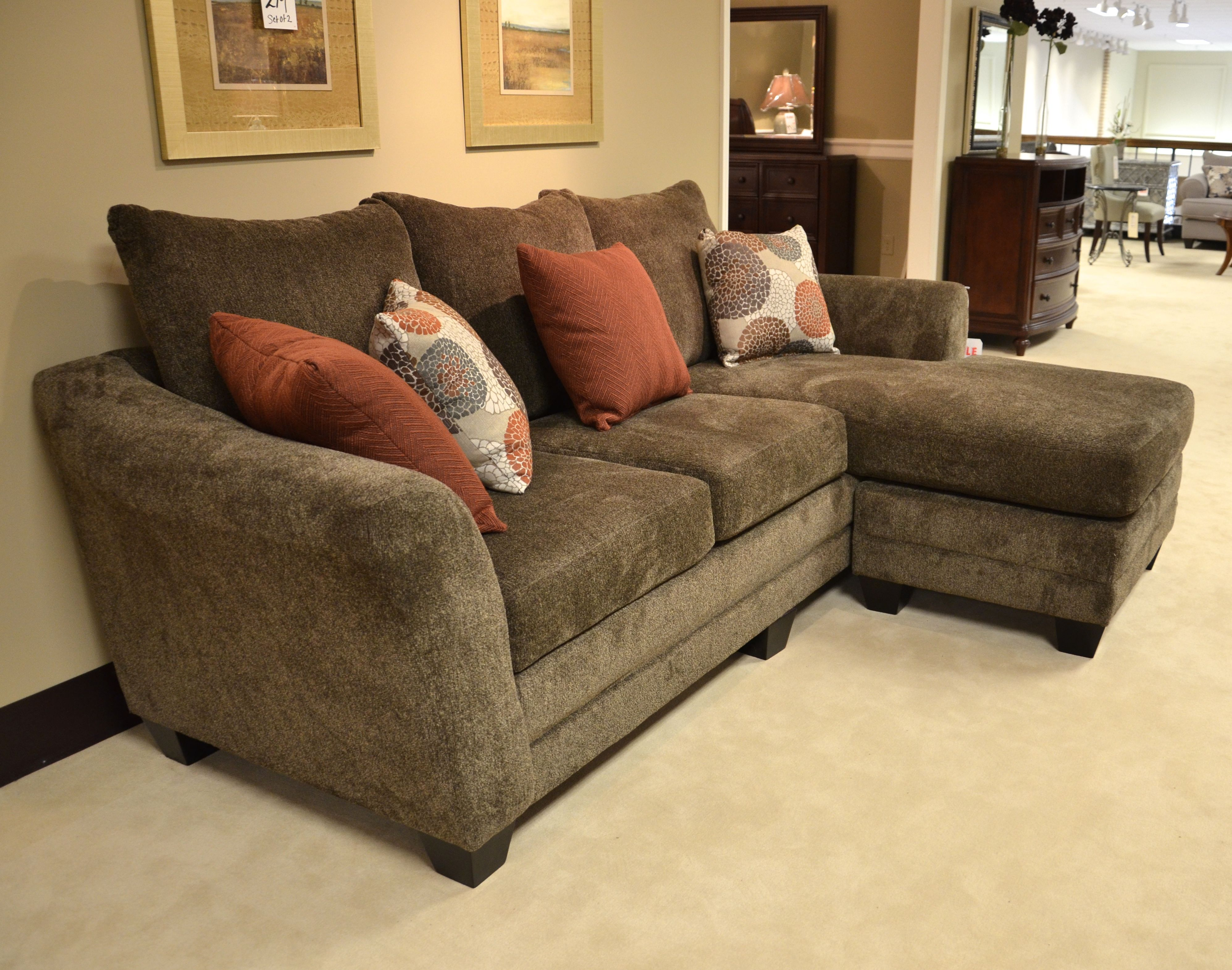 Cocoa brown sofa sectional is fy and super functional