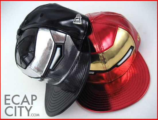 167ad2a8875 ... discount new era limited edition iron man 2 snapback caps. glow in the  dark eyes