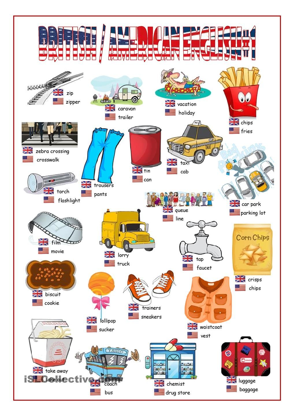 British/American English Picture Dictionary#1 | poon | Pinterest ...