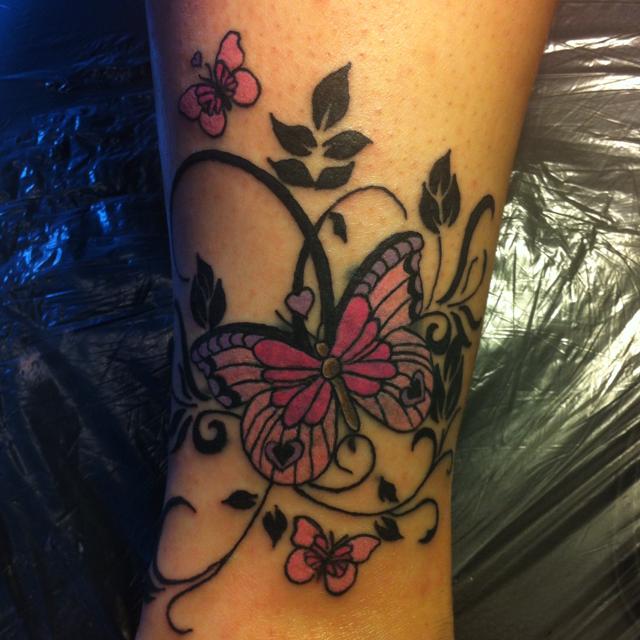 My Tattoo Designs Butterfly Foot Tattoos: My-memorial-tattoo-of-my-little-girl-the-butterflies