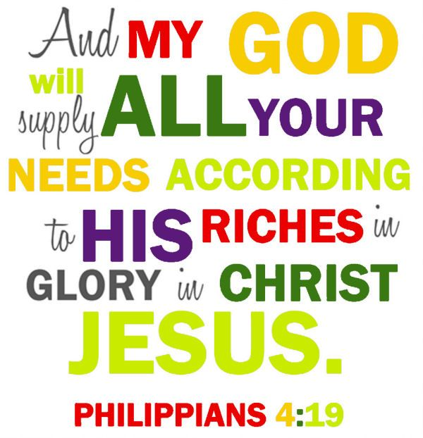 Philippians 419 Wish I Had Read This When Was Out Shopping For School