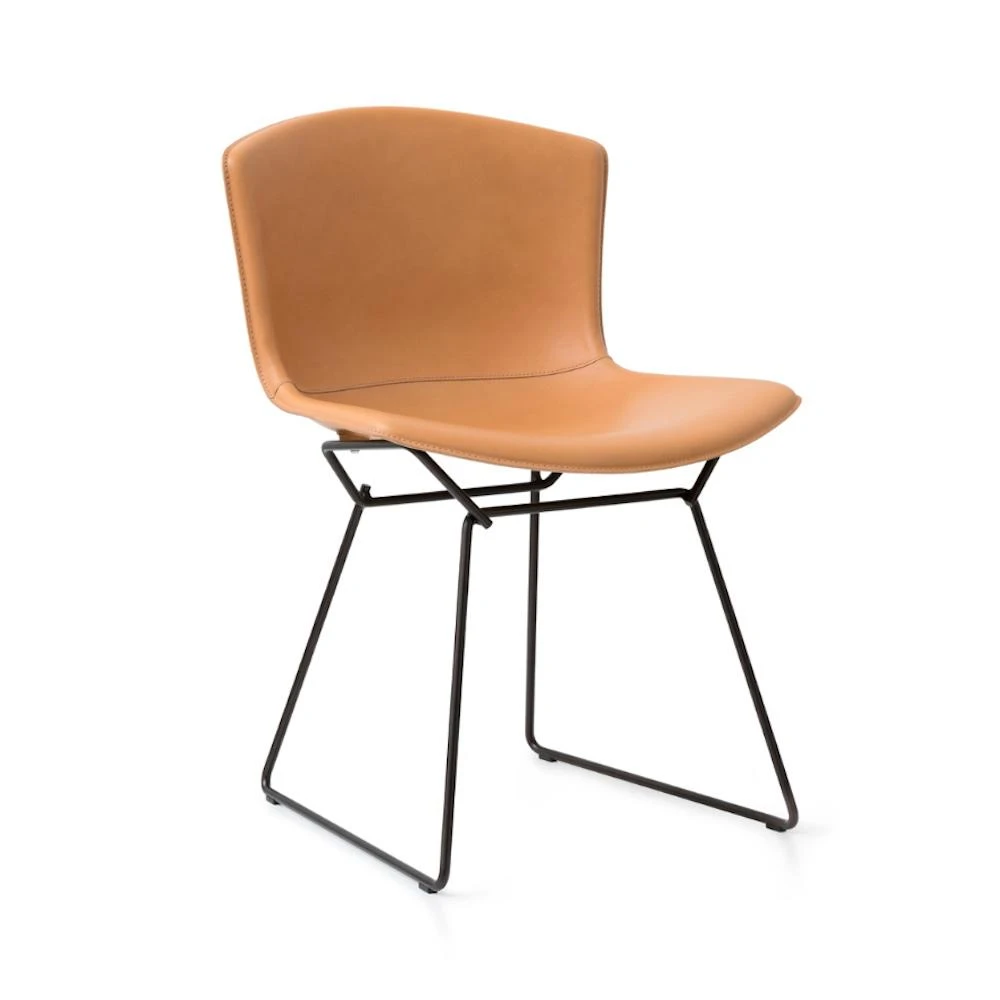 Knoll Bertoia Leather Side Chair In 2020 Leather Side Chair Side Chairs Bertoia Side Chair