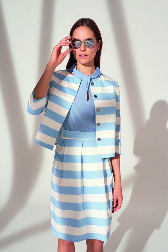 Blazer kleid hellblau