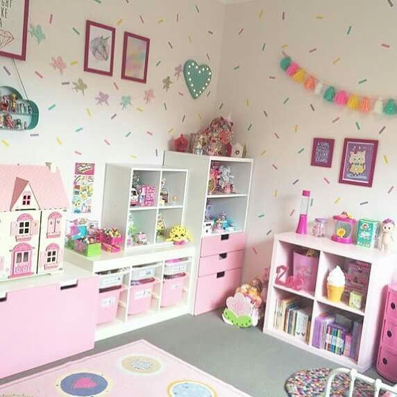 Unicorn room bright and cheerful girl's playroom is part of Girls room storage -