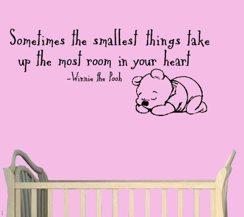 Sometimes The Smallest Things In Your Heart Take Up The Most Room In Your Heart Winnie The Pooh Sleeping Wall Art-Sticker Decals-Wal.  sc 1 st  Pinterest & Sometimes The Smallest Things In Your Heart Take Up The Most Room In ...