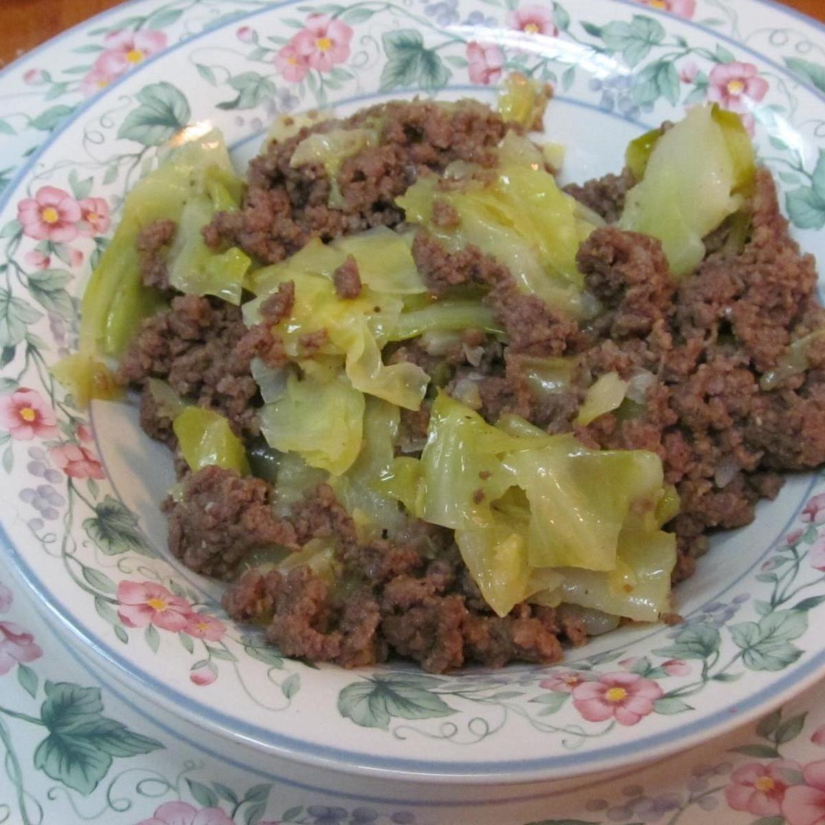 Hamburger Cabbage Recipe Ground Beef And Cabbage Hamburger And Cabbage Recipe Hcg Diet Recipes