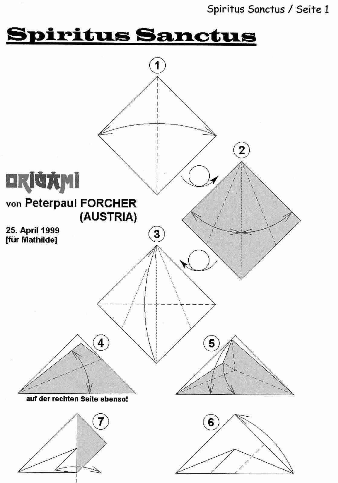 Vida Arteira Artesanatos Variados Madala Do Espirito Santo Christmas Origami Diagrams De Natal Xmas