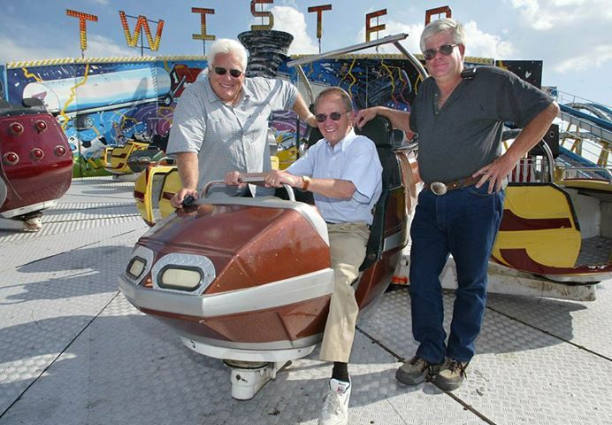 Frank Zaitshik, Dennis Hazzard, and George Scuse take time out of their busy Fair schedules to enjoy the popular ride, Twister! What's your favorite ride at the #DelStateFair?
