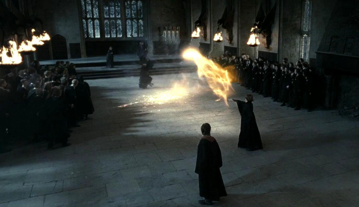 4969e7816 Maggie Smith as Professor Minerva McGonagall...Snape and McGonagall duel
