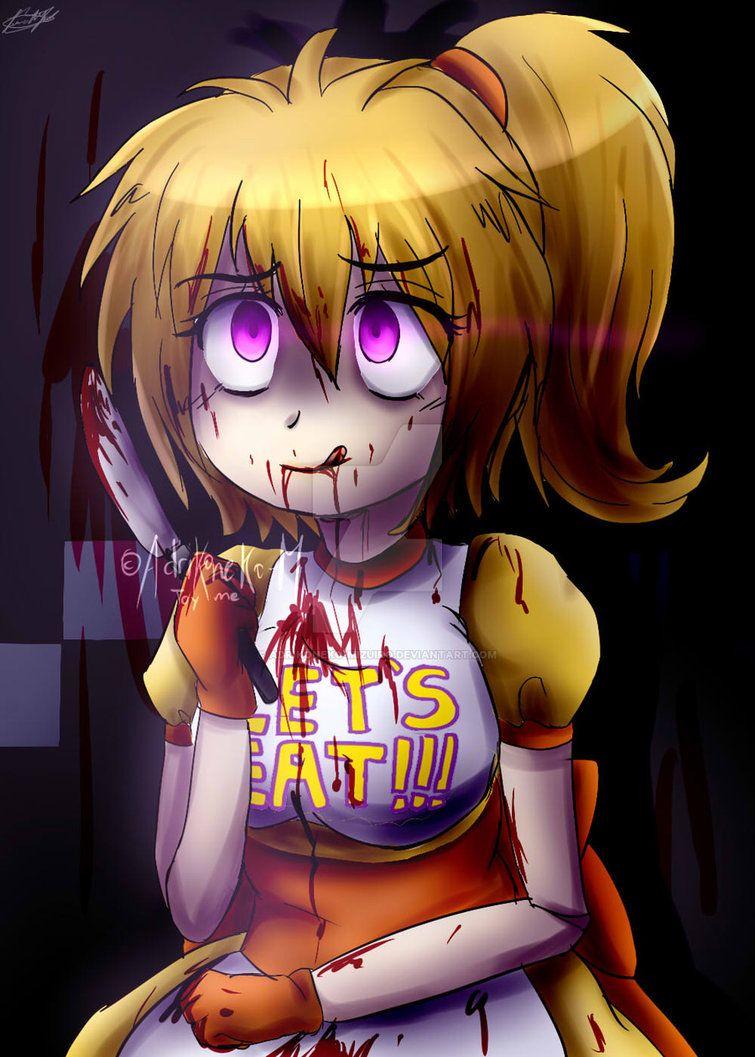 Chica(Human)blood Fnaf Fanart By AdriKoneko-Mizuiro