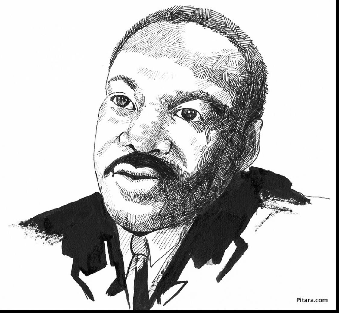 Fantastic Martin Luther King Jr Coloring Pages With And