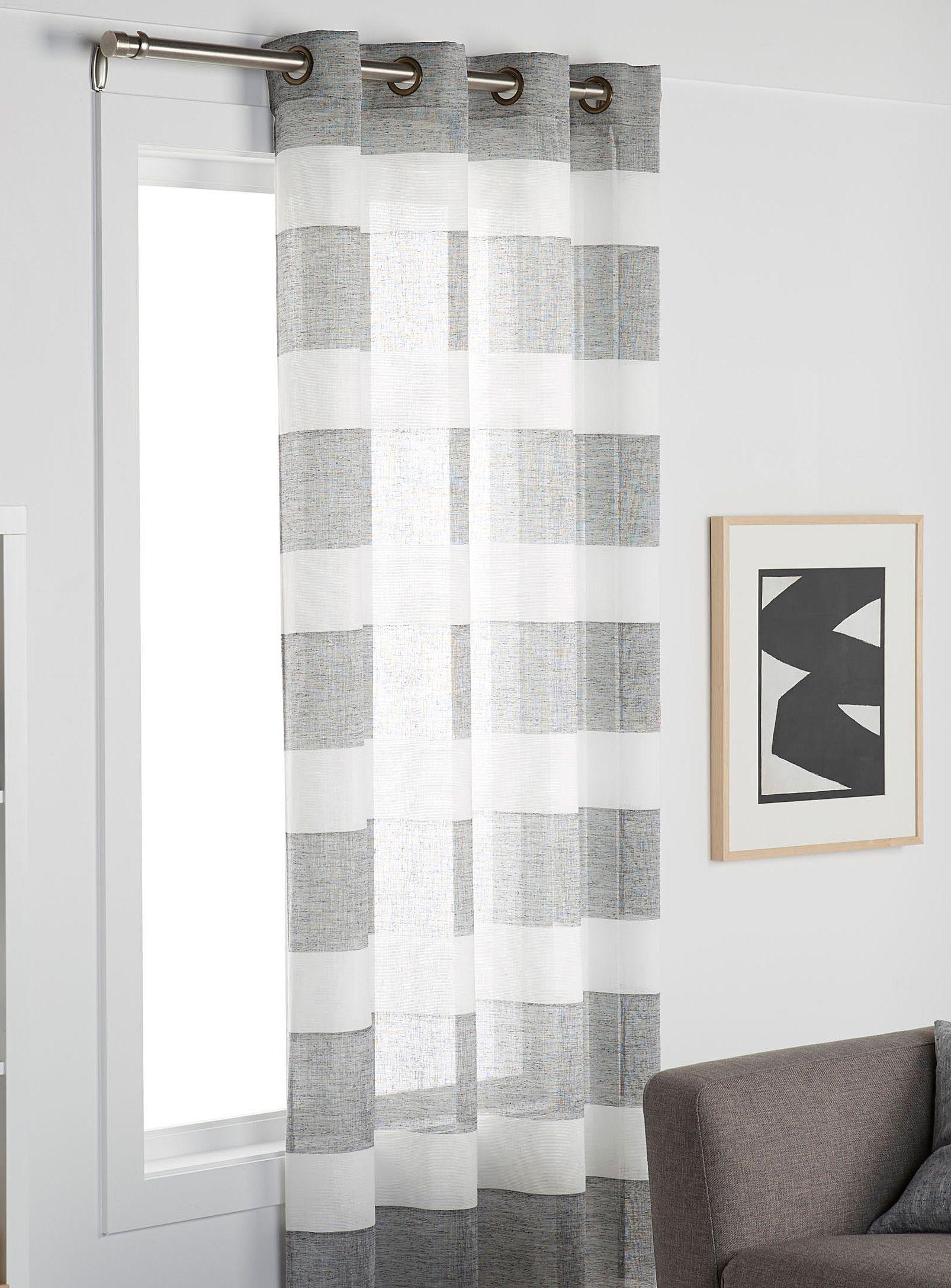 Rustic Stripe Voile Curtain 140 X 220 Cm Voile Curtains