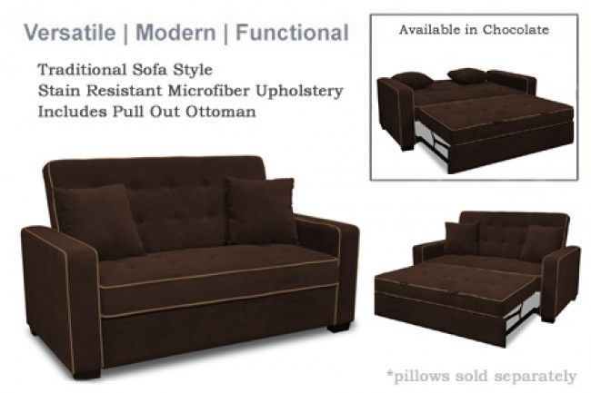 Serta Jacksonville Upholstered Modern E Saving Futon Sofa Bed