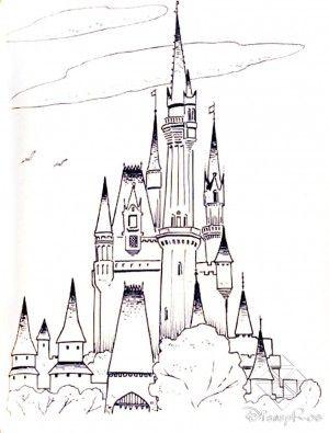 Castle Coloring Pages Coloring Pages Coloring Pages Rapunzel Tower Page Castle Colouring Albanysinsanity Com Castle Coloring Page Castle Painting Castle Sketch