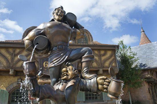 Outside Gaston's Tavern in New Fantasyland at Magic Kingdom Park