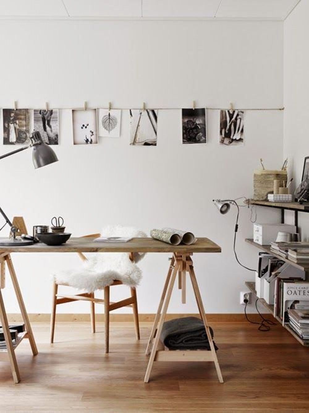 Mesa con caballetes despachos y espacios de trabajo pinterest caballetes mesas y espacios - Mesa con caballetes ...