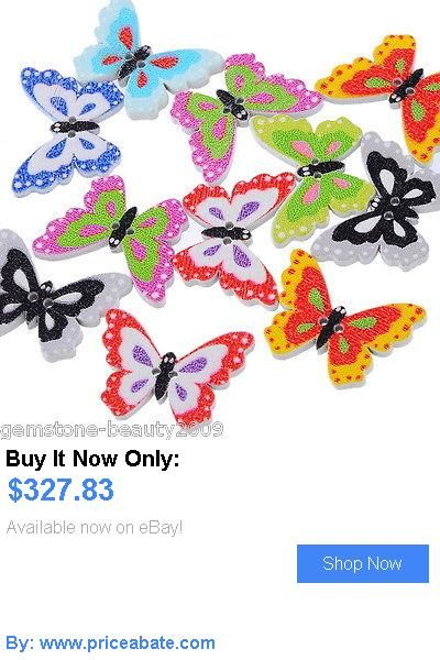DIY Crafts: Gb Wholesale Wooden Buttons Butterfly Cartoon Cute 2-Hole Sewing Scrapbooking BUY IT NOW ONLY: $327.83 #priceabateDIYCrafts OR #priceabate