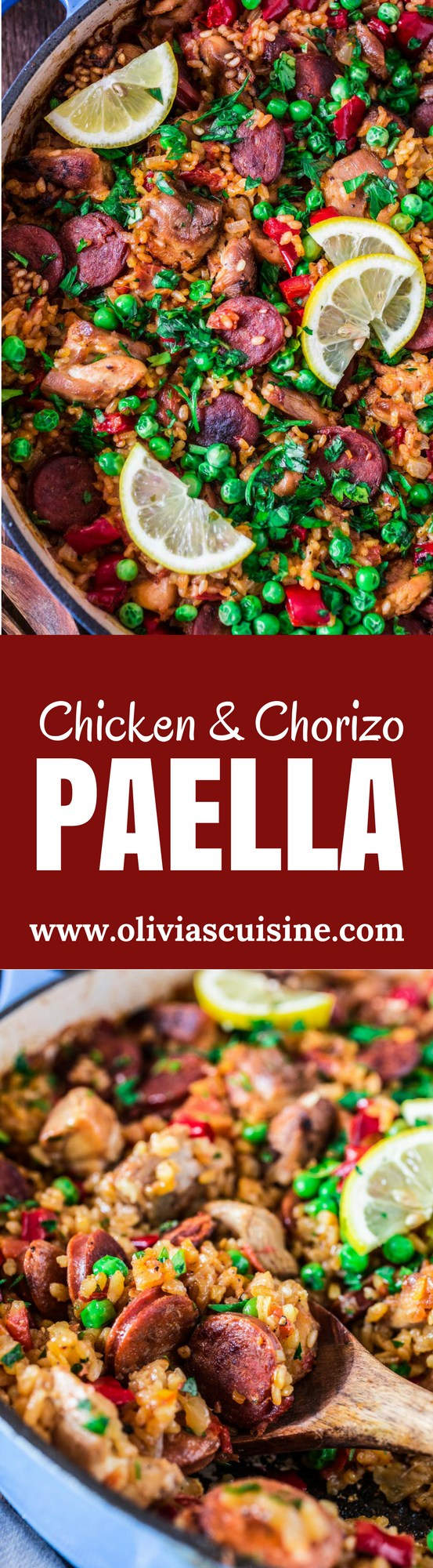 Chicken And Chorizo Paella Www Oliviascuisine Com A Chicken And Chorizo Paella Might Sound Like A Very Ambitiou Paella Recipe Recipes International Recipes