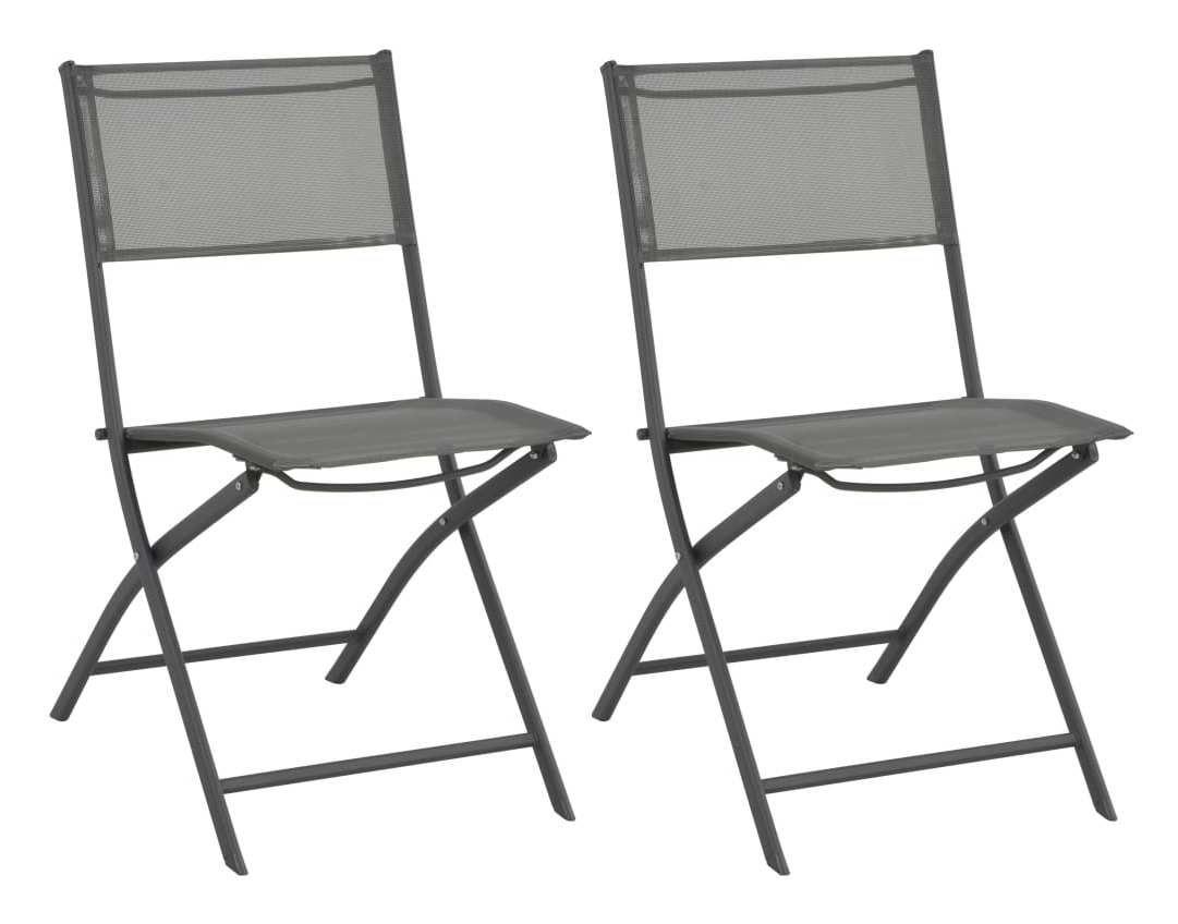Chaises De Jardin Pliables 2 Pcs Acier Et Textilene 44710 Folding Chair Chair Home Decor
