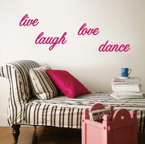 Live Laugh Love Dance - Pink. Purple Pattern ... & Live Laugh Love Dance - Pink | Pink walls Wall decals and Dancing