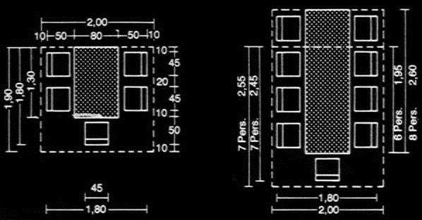 Medidas mesas de comedores casa medidas de mesas - Medidas mesa de comedor ...