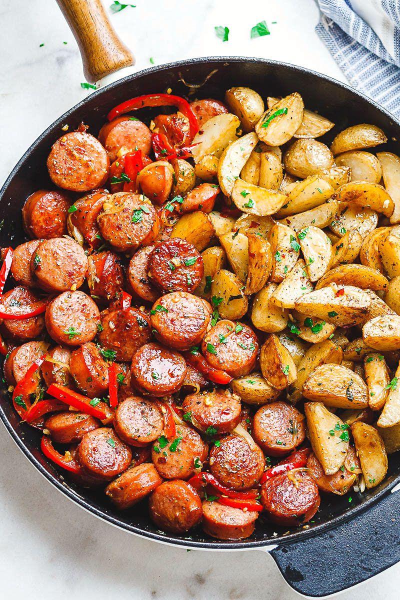 20-Minute Smoked Sausage and Potato Skillet | Smoked ...