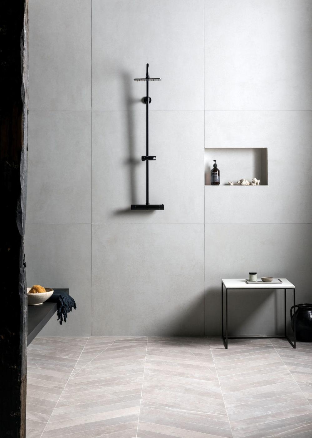 Large Porcelain White Tile Google Search Stone Tile Bathroom Mandarin Stone White Stone Tiles