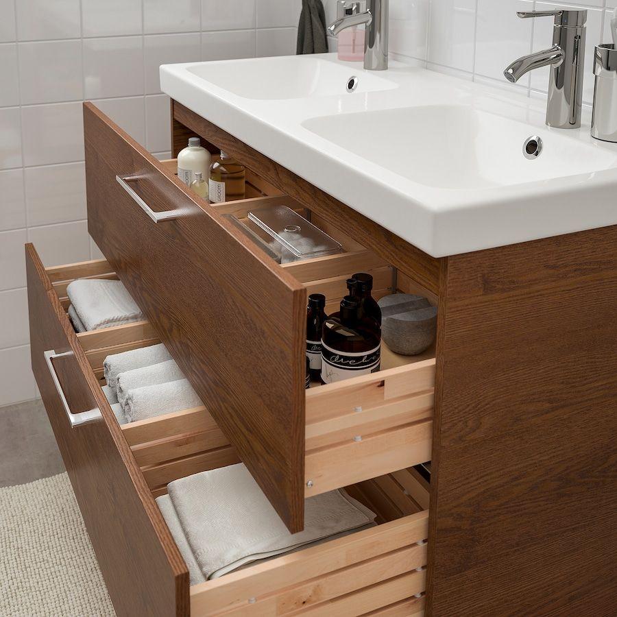 Godmorgon Odensvik Bathroom Furniture Set Of 6 Brown Stained
