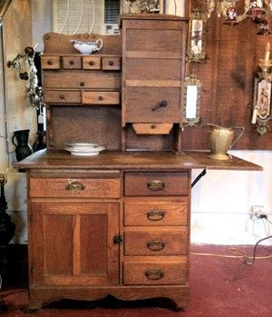 Best Original Complete Beautiful Old Oak Hoosier Cabinet 400 x 300