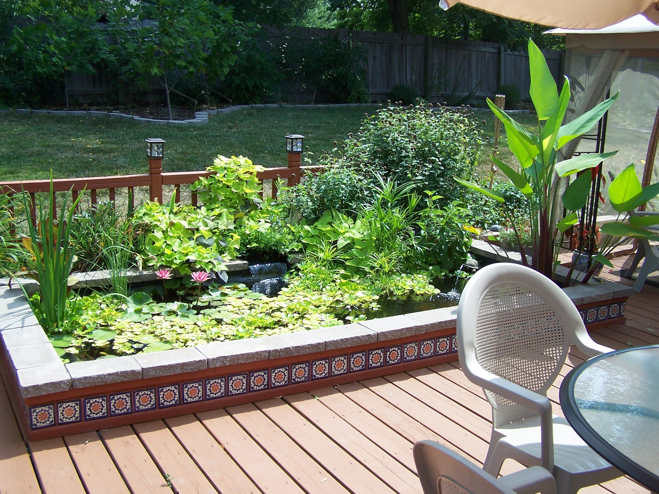 My Fish Pond Built Into The Deck